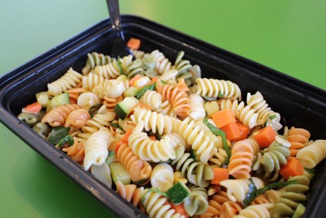 Zucchini, carrots, corn, basil